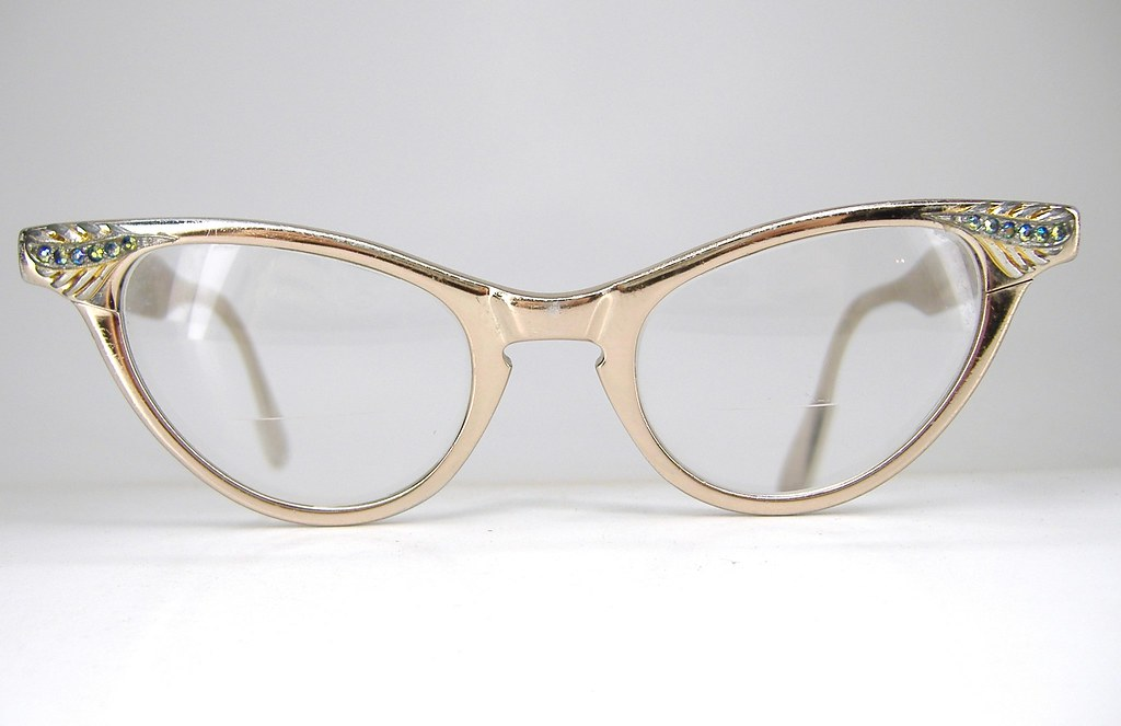 Art Craft Cat Eye Vintage Glasses