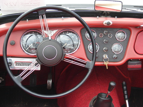 Triumph Tr3 Convertible Dashboard View Gil Flickr