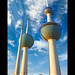 kuwait towers - a profile shot