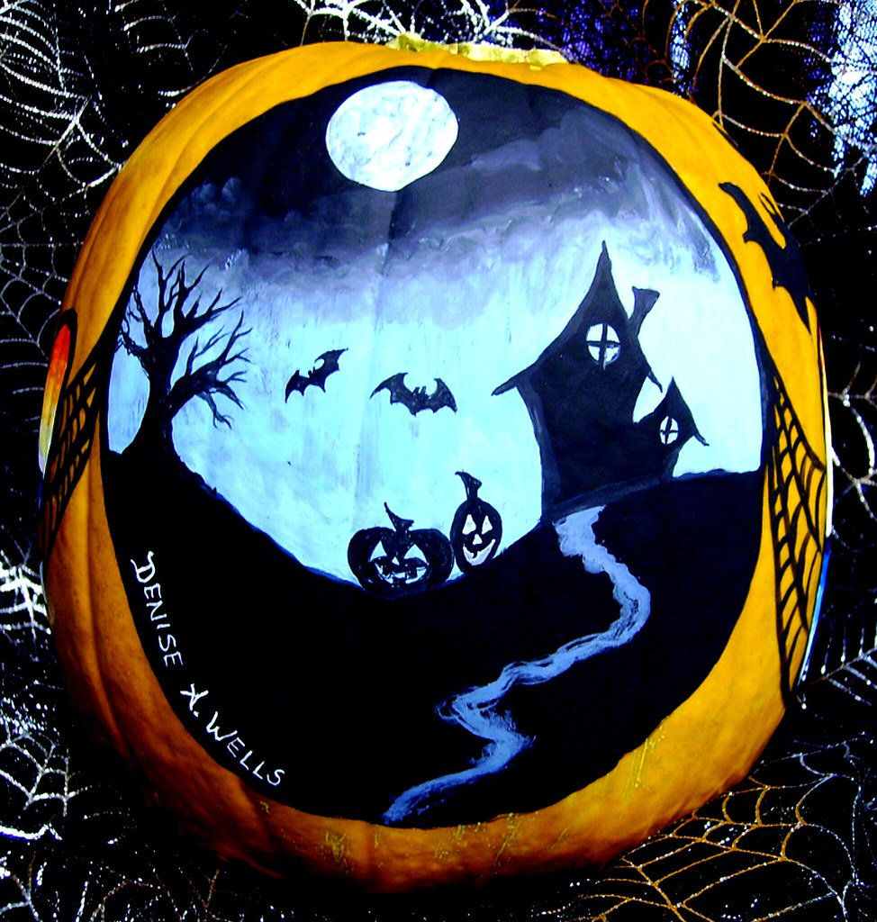 Pumpkin Painting By Denise A Wells Painted Pumpkins