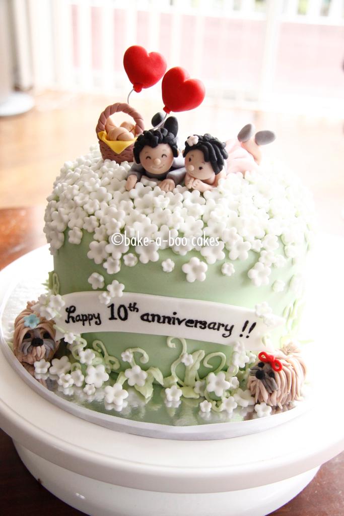 Wedding Gift Ideas Yahoo : 10th Wedding Anniversary Cake Elina Prawito Flickr