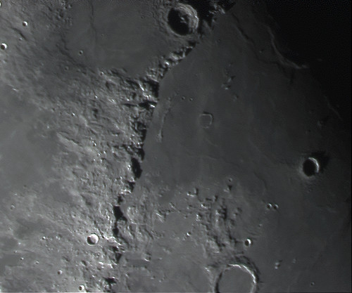 Moon Mountains Taken With A Meade Lpi Lunar Planetary