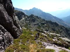 Le début de la vire 1750m vers Serra Pianella