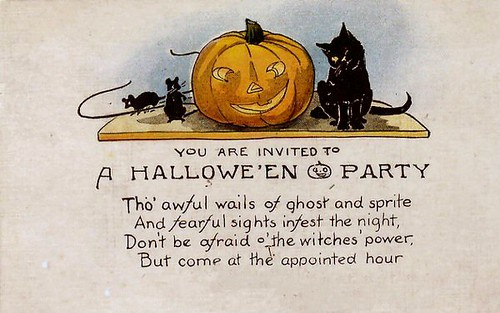 Vintage halloween invitation a party invitation on a for Vintage halloween party invitations