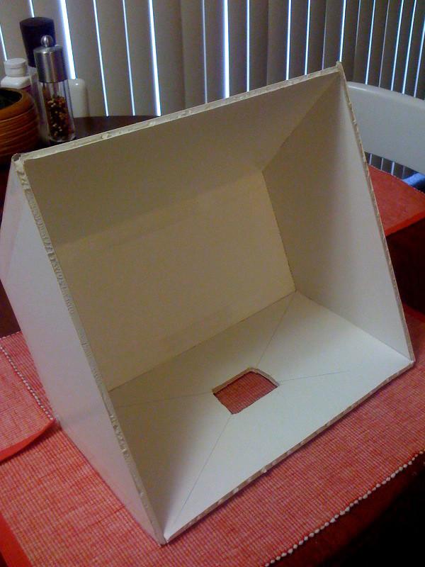diy soft box diy softbox 1 buy foam core board and heavy flickr. Black Bedroom Furniture Sets. Home Design Ideas