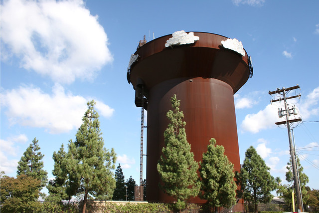 grossmont water tower clouds do the fake clouds match th flickr. Black Bedroom Furniture Sets. Home Design Ideas