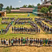 Students create giant 350 in Cebu, Philippines
