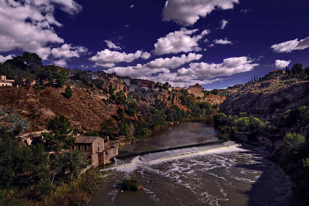 Tajo River In Toledo, Spain  Tajo Or Tejo Or Tagus River -7176