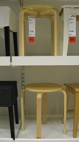 Ikea Version Of Alvar Aalto S E60 Stool 1933 Birch