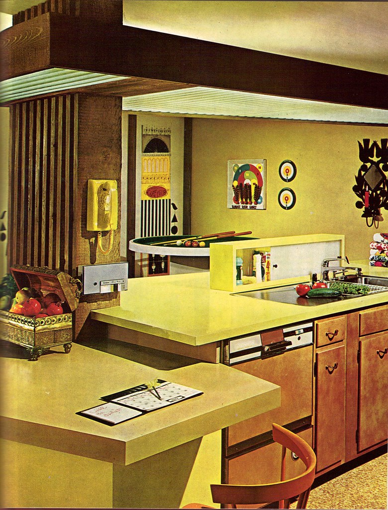 Late 60 39 s kitchen from the practical encyclopedia of for 70s style kitchen cabinets