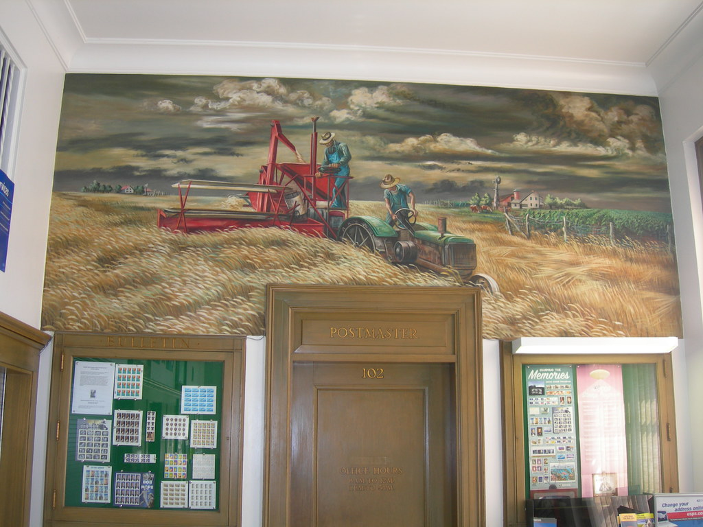 Seneca, Kansas Post Office Mural | New Deal mural entitled