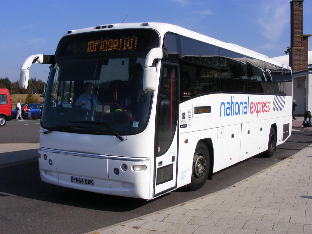 Burtons Coaches Of Cambridge Yn54ddk Volvo B12b Plaxton