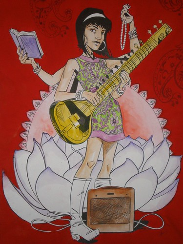 Saraswati (detail) | by The Everlasting Jamie S Rich