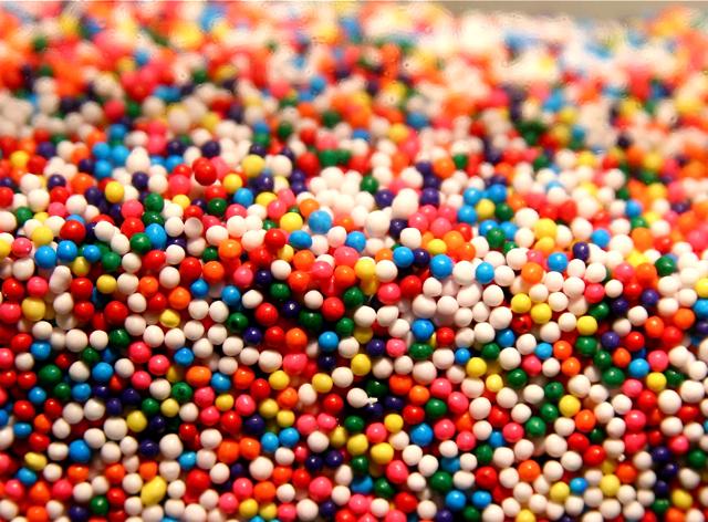 Rainbow Sprinkles Cake Decoration