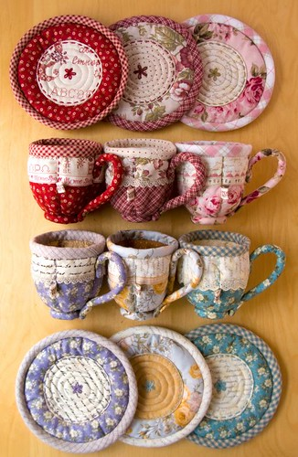 Quilted Teacup & Saucer Sets | by PatchworkPottery