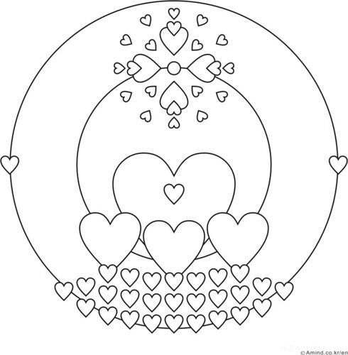 Heart Mandala | Heart mandala drawing of AMIND | Gunyoung ...