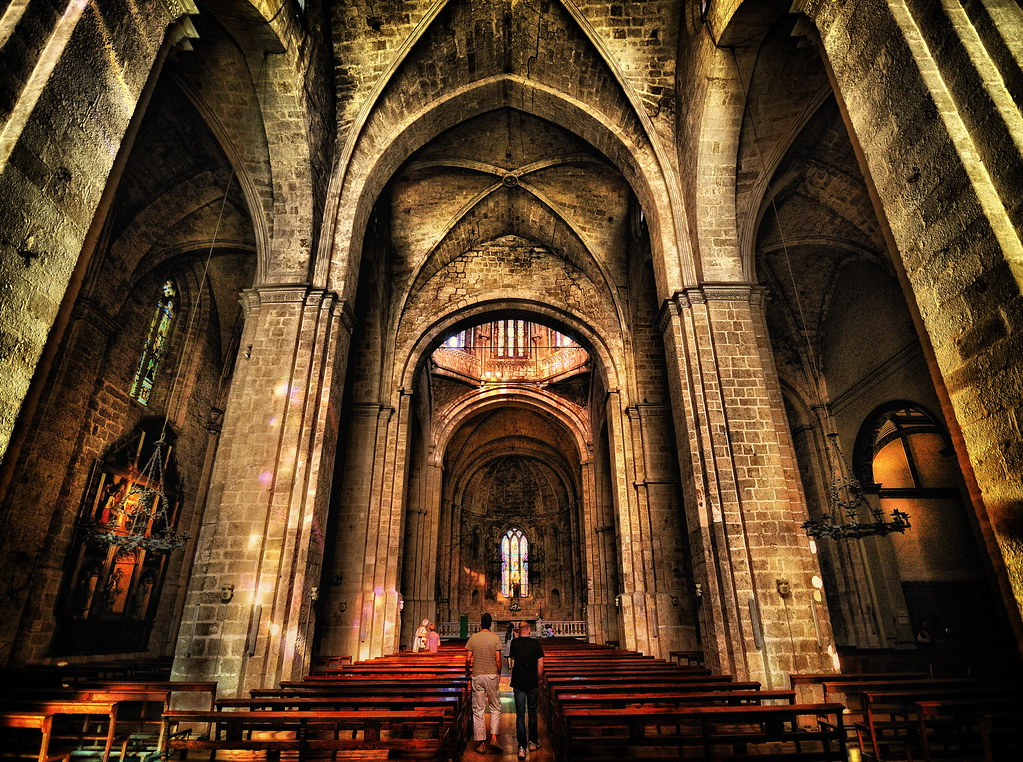 Monasterio de sant cugat view on black el monasterio de sa flickr - Alfombras sant cugat ...