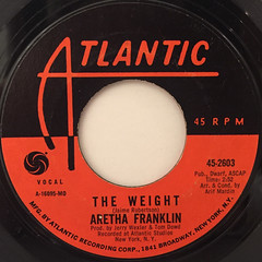 ARETHA FRANKLIN:THE WEIGHT(LABEL SIDE-A)