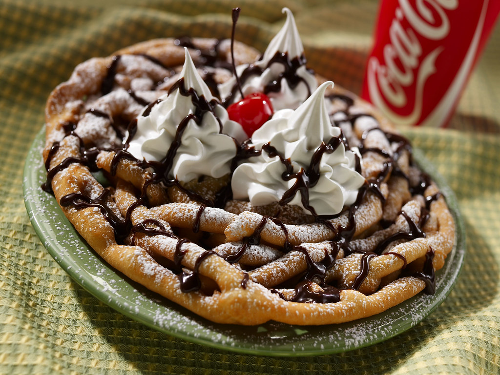 Funnel Cake w/ chocolate and cherry | Overheard at a Six ...