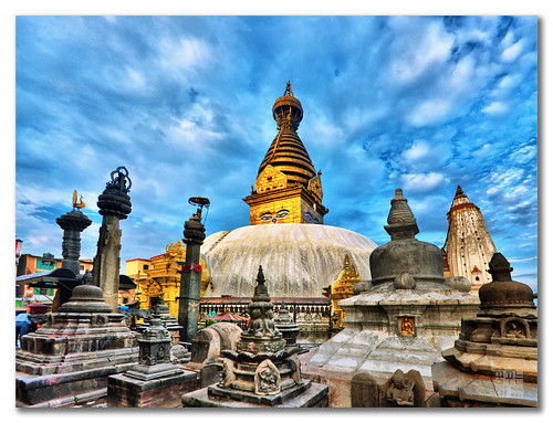High Dynamic Peace - Swayambhunath (स्वयम्भूनाथ स्तुप), Nepal | by dhilung