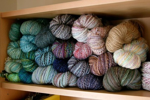 Handspun, arranged by hue. | by kelp!