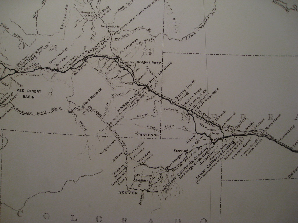Map of the Oregon Trail The