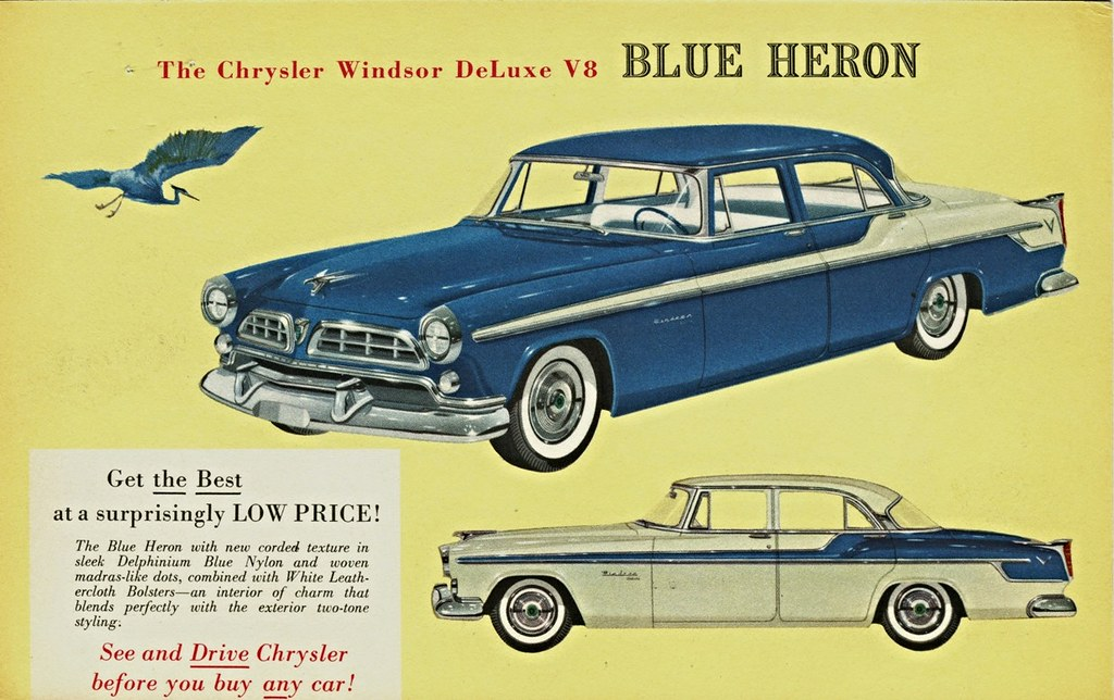 Windsor Auto Sales >> 1955 Chrysler Blue Heron | This is one of many Chrysler ...