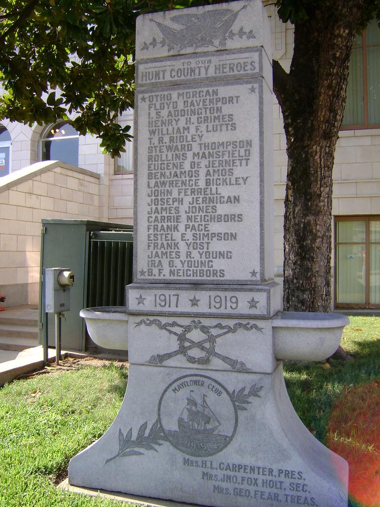 Obverse Of World War I Veterans Memorial Old Hunt County