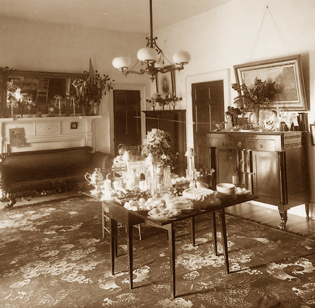 Dining room Prentiss House 1890's | gaswizard | Flickr
