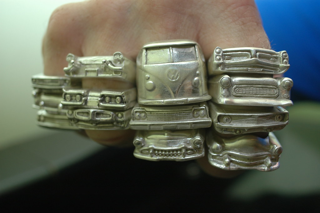 New Trans Am >> VW Bus Ring | Hi Octane Jewelry | Mustang Ring, T-Bird ...