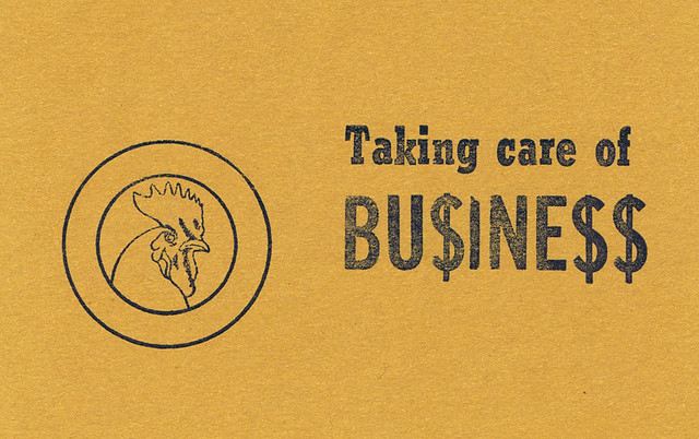 Taking Care of Business Rooster Card | I took my first ...