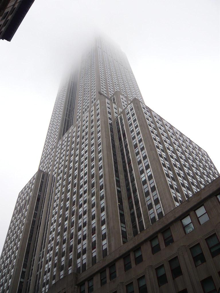 New York City Empire State Building Fog December