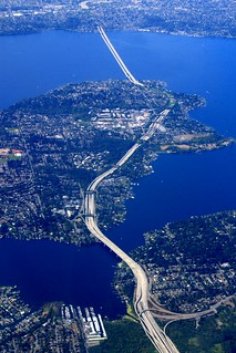 The I-90 Bridge over Mercer Island and Lake Washington toward Seattle | by Alaskan Dude