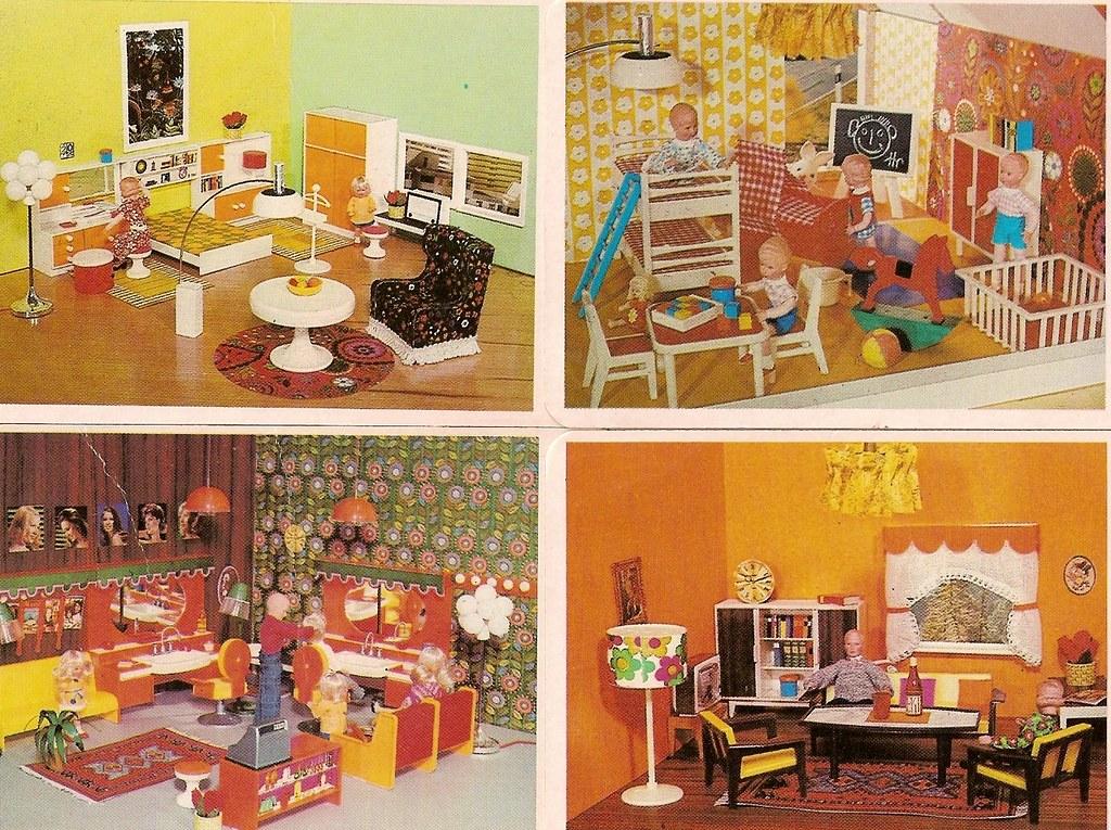1972 puppenhausquartett modella friseur diepuppenstubensammlerin flickr. Black Bedroom Furniture Sets. Home Design Ideas