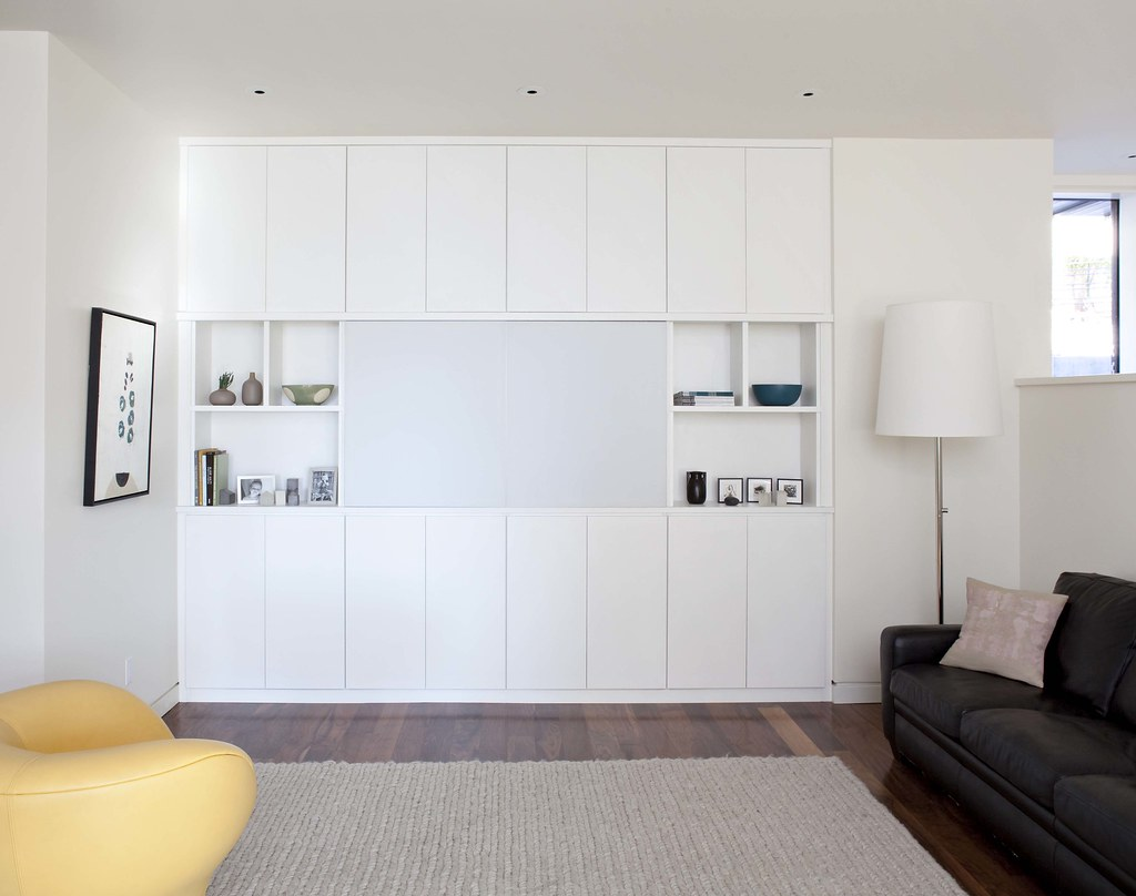 ... California Closets   Media Center In Lago White Bellissima Finish | By CA  Closets