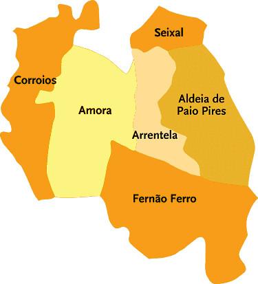 seixal mapa Concelho do Seixal | Mapa das freguesias | Jorge Bastos | Flickr seixal mapa