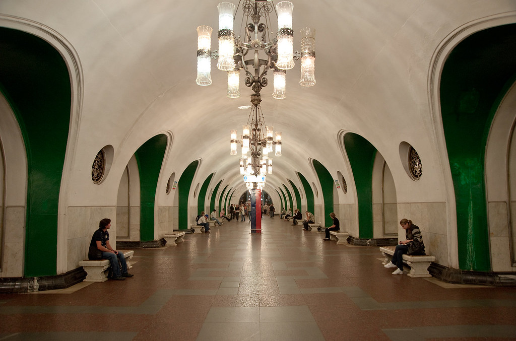 vdnkh metro interior of the vdnkh metro station in the