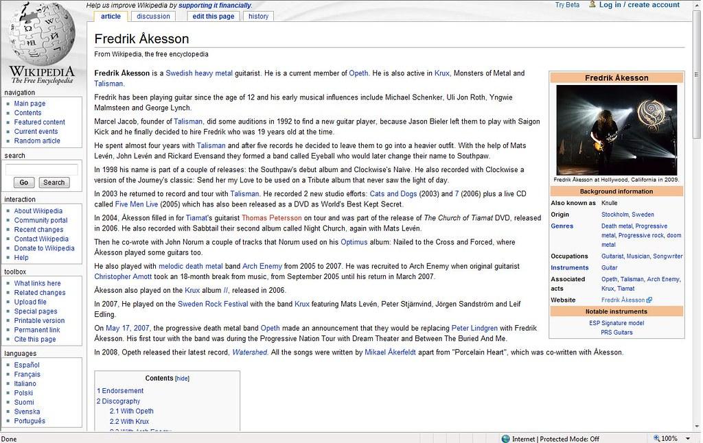 Fredrik åkesson On Wikipedia See Web Page Enwikipediaor Flickr