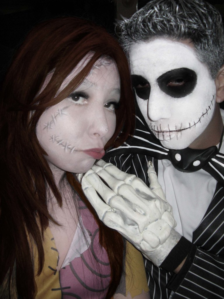 Jack and Sally Halloween Costumes and Makeup | Lucy Ortiz | Flickr