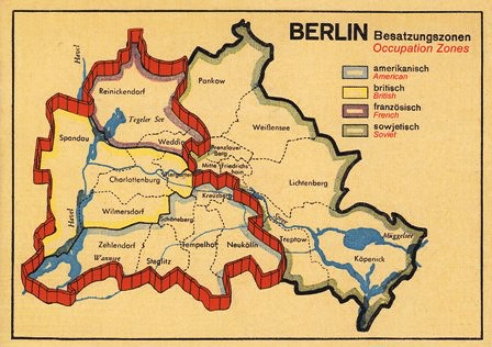 GERMANY Berlin Map Occupation Zones Nhigh Flickr - Germany map zones