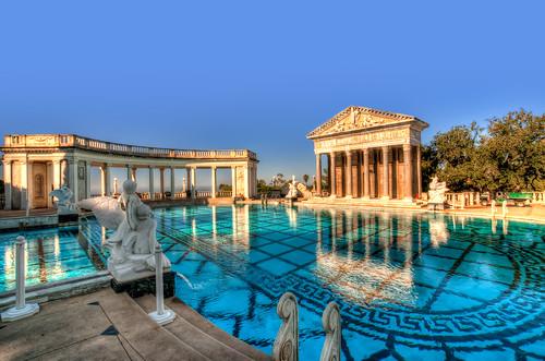 Neptune pool early morning explored highest - Hearst castle neptune pool swim auction ...