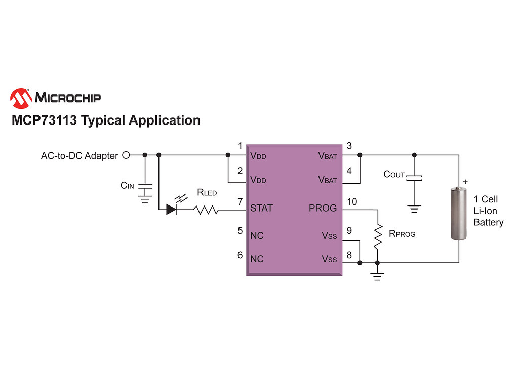 Circuit Diagram  Microchip U0026 39 S Mcp73113 Li