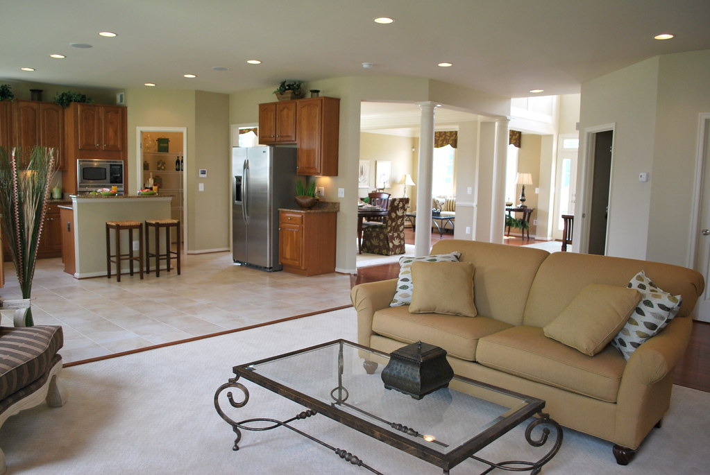 casa modelo sala principal y cocina sala principal muy