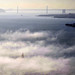Sailing through the fog in San Francisco Bay
