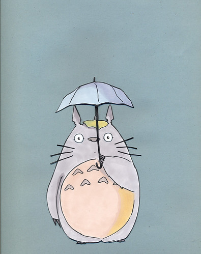 Totoro With Umbrella | www.imgkid.com - The Image Kid Has It!