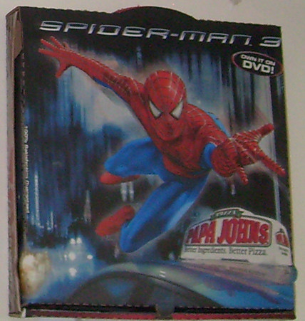 Papa John S Pizza Box Spiderman 3 Picture Of A Papa John