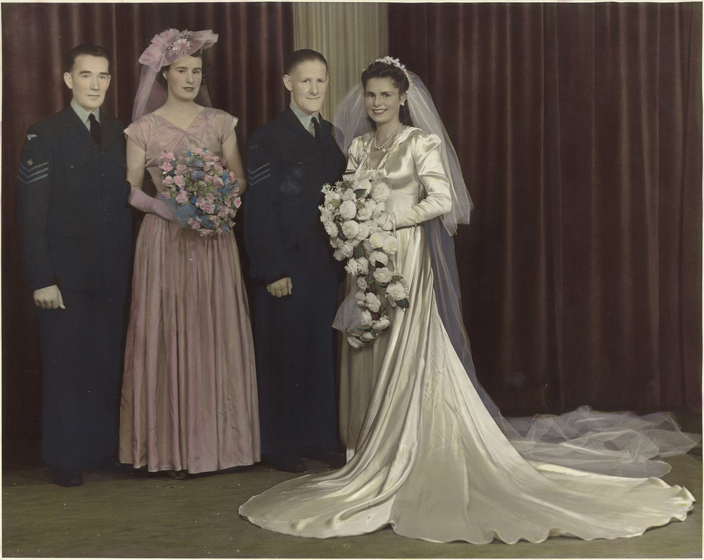 Dorothy Chadwick And Noel Maginness On Their Wedding Day