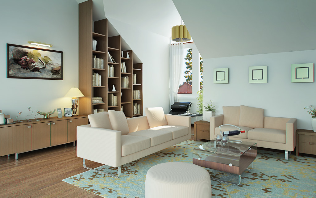 Living room Designed And Rendered By Dang Khoi