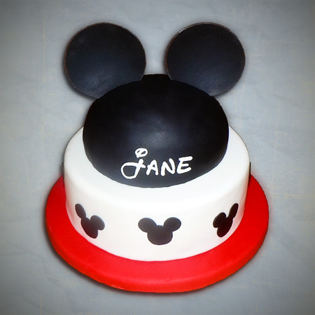 mickey mouse cake fondant hat ears disney birthday  Flickr