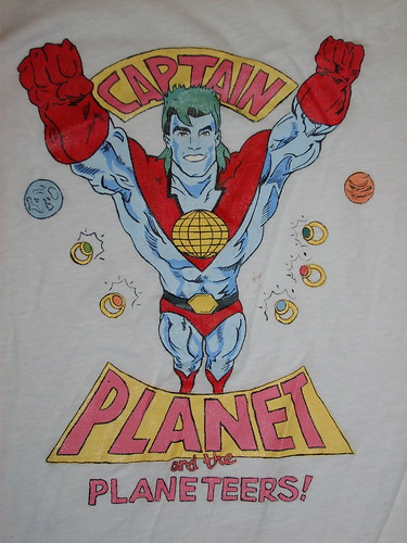 Captain Planet painted T-Shirt | by Lynz_yk